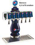 Tapzuil Postmix Pepsi Cola Barocco 4, 6 of 8 smaken
