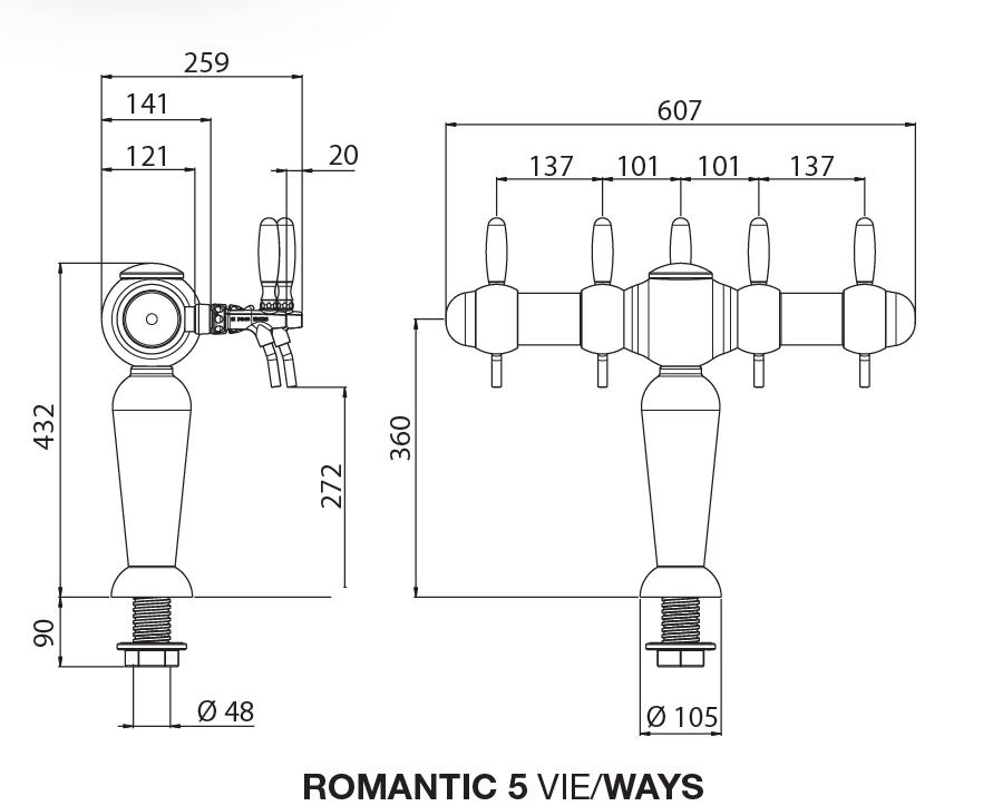 romantic 5 chrome tekening