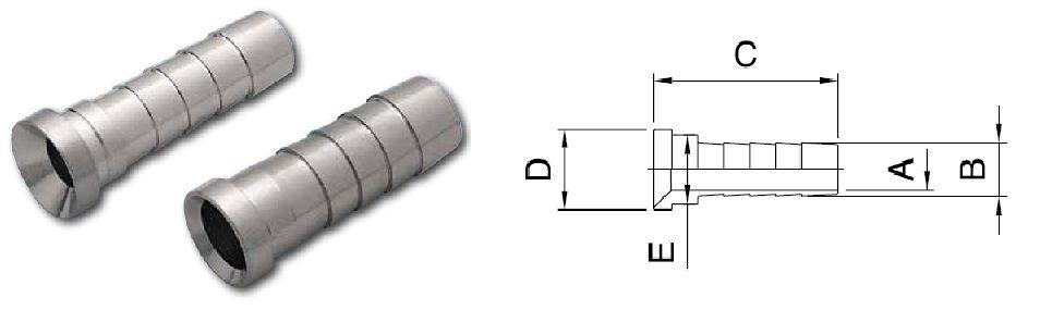 hose nipple id 6mm od 84mm