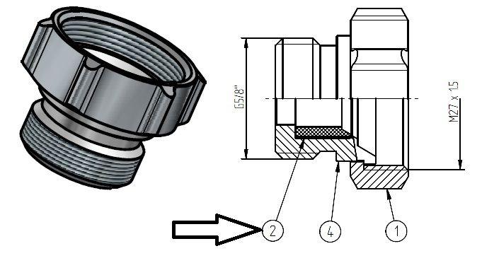 seal 108 mm diameter
