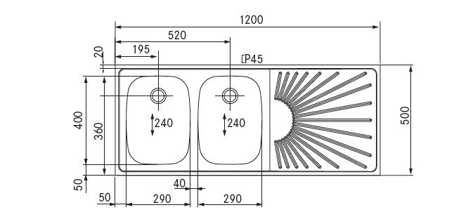 spoel lekblad 1200x500 2 spoelbak links