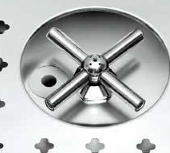 spoel tapblad 1300x550x45 spoelbak rechts rooster kruis glazen sproeier