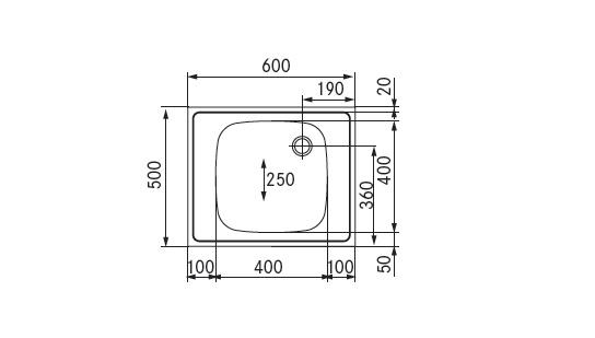 spoelbak 600x500
