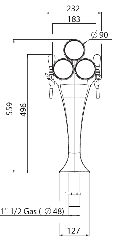 tapzuil cobra 58 3 chroomice